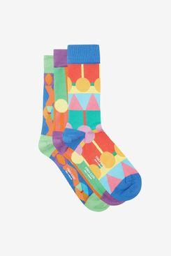 Yinka Ilori Pack of Three Patterned Socks