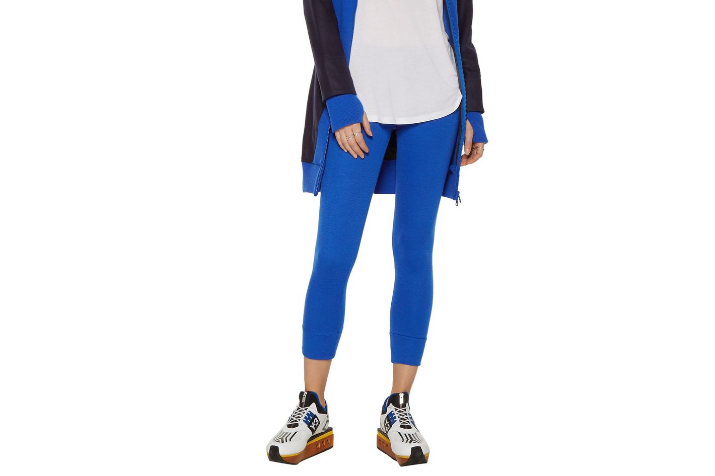Y-3 + Adidas Ribbed-Knit Leggings