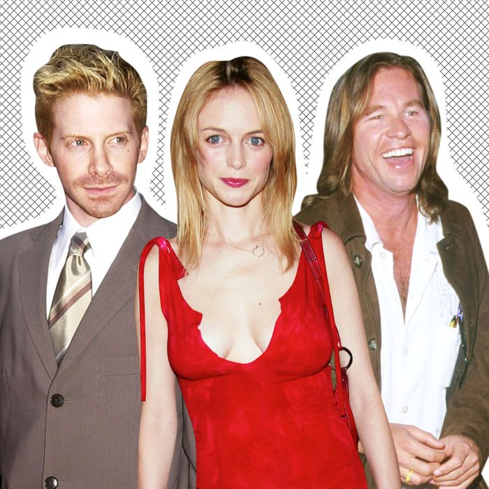 Seth Green at the Austin Powers in Goldmember premiere, Heather Graham at the Mr. Deeds premiere, and Val Kilmer at the Eyes Wide Shut premiere.