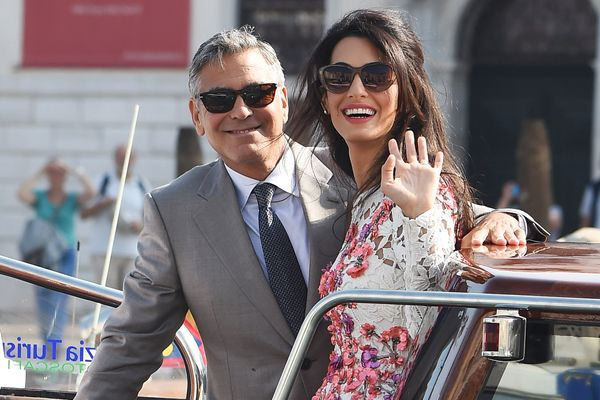 Amal, George, and a Water-Taxi Wedding
