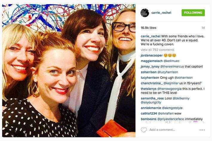 Kim Gordon, Amy Poehler, Carrie Brownstein, and Aimee Mann.