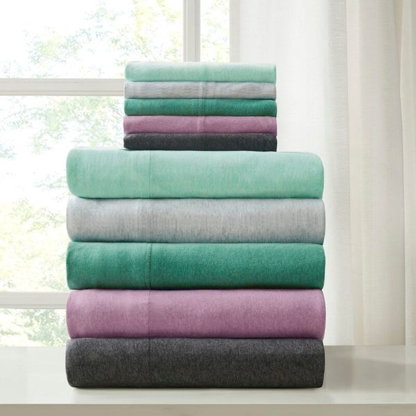 Mercury Row Stepney 227 Thread Count Solid Color 100% Cotton Jersey Knit Sheet Set