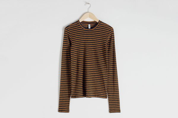 & Other Stories Sheer Striped Top