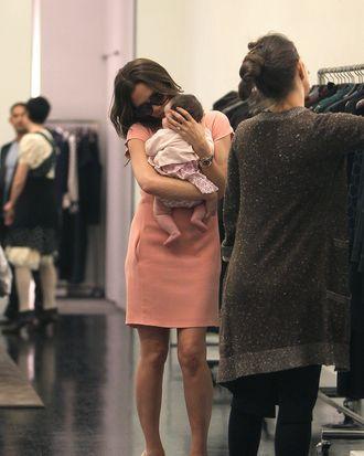 Victoria Beckham and baby Harper.