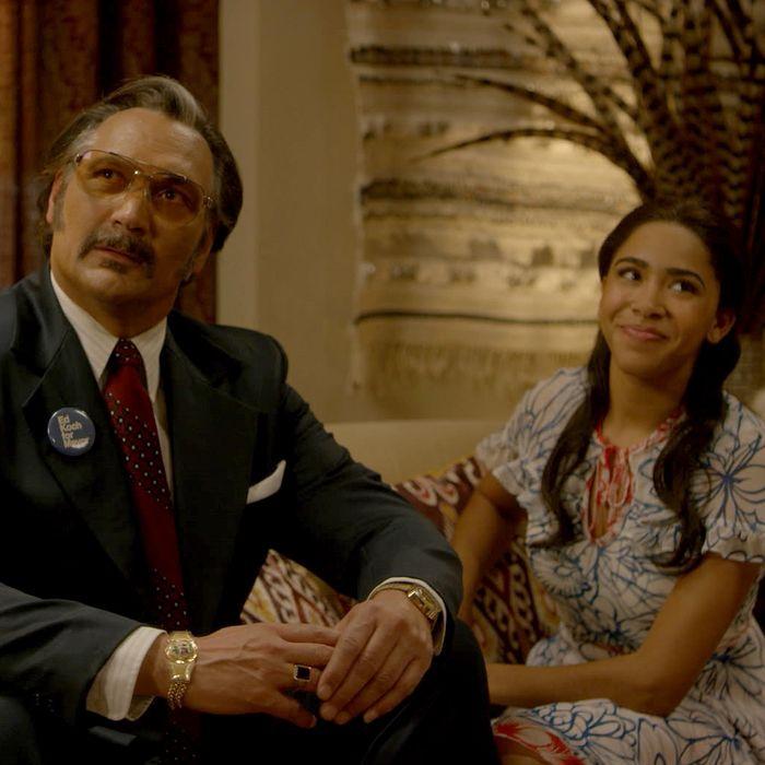 Jimmy Smits as Papa Fuerte, Herizen Guardiola as Mylene.