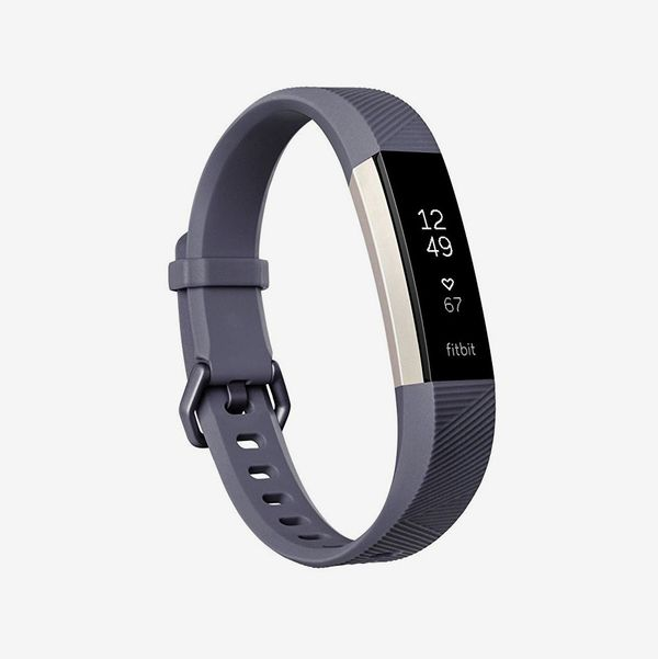 blue gray fitbit alta hr - strategist fitness trackers on sale