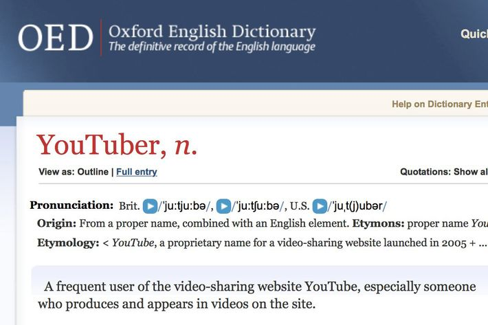 28 oxford youtuber.w710.h473 oxford english dictionary' adds wrong 'youtuber' definition