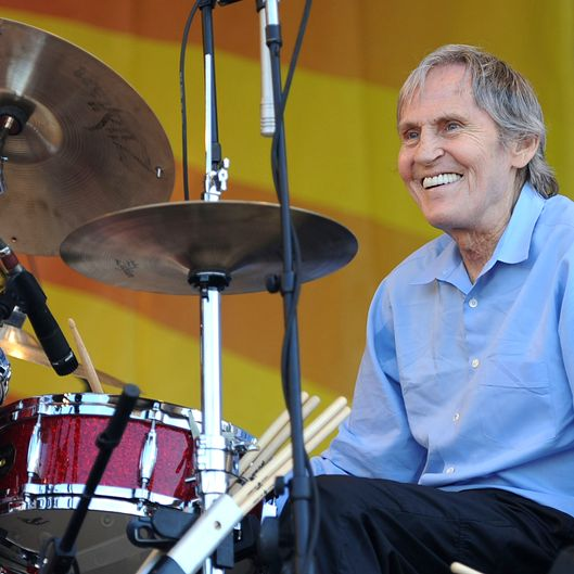 Singer/Songwriter Levon Helm (Levon Helm Band) performs at the 2010 New Orleans Jazz & Heritage Festival