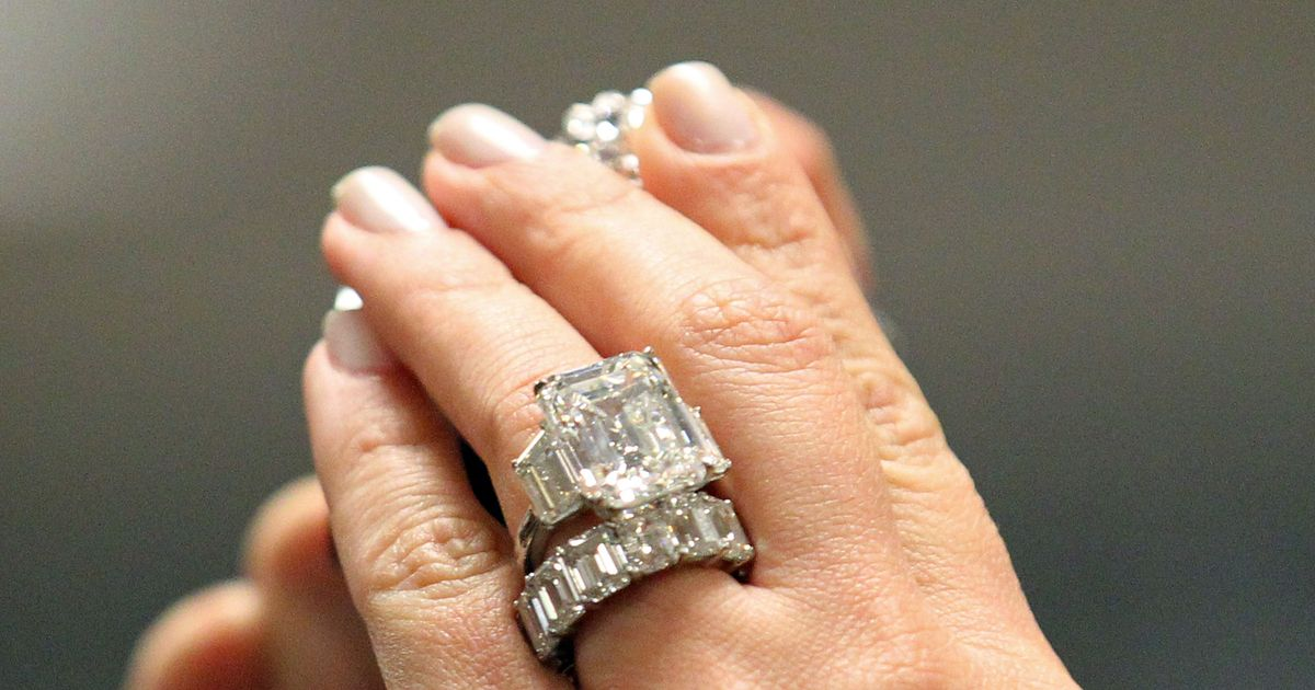 Kim Kardashian's Cursed Engagement Ring for Sale -- The Cut