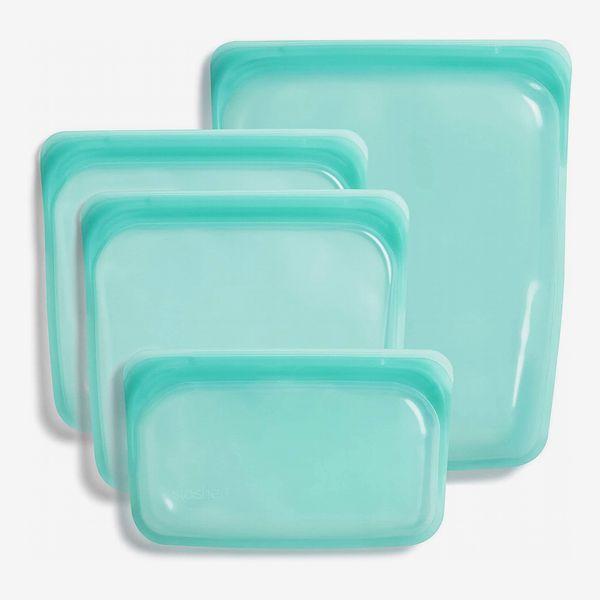 Stasher Reusable Storage Bag, Clear, 4-Piece Bundle Set