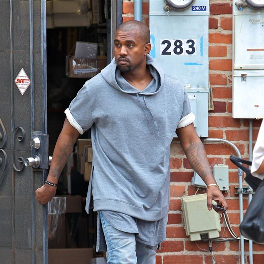 Kanye West shopping for furniture in Beverly Hills, CA
