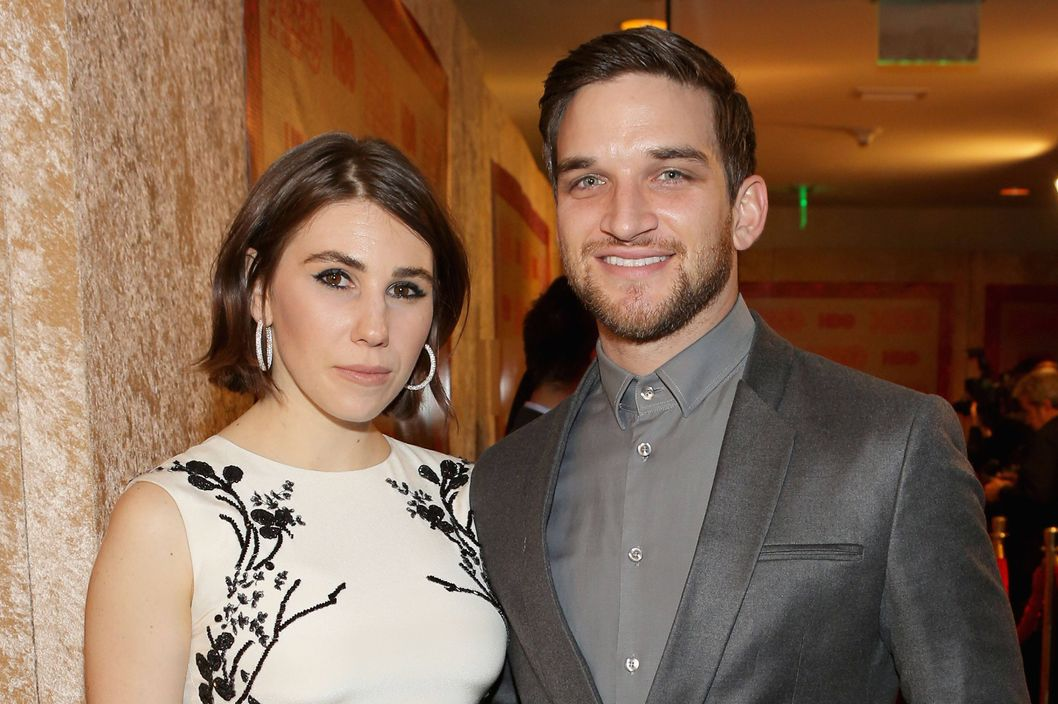 Actress Zosia Mamet (L) and actor Evan Jonigkeit attend HBO's Post 2014 Golden Globe Awards Party held at Circa 55 Restaurant on January 12, 2014 in Los Angeles, California.