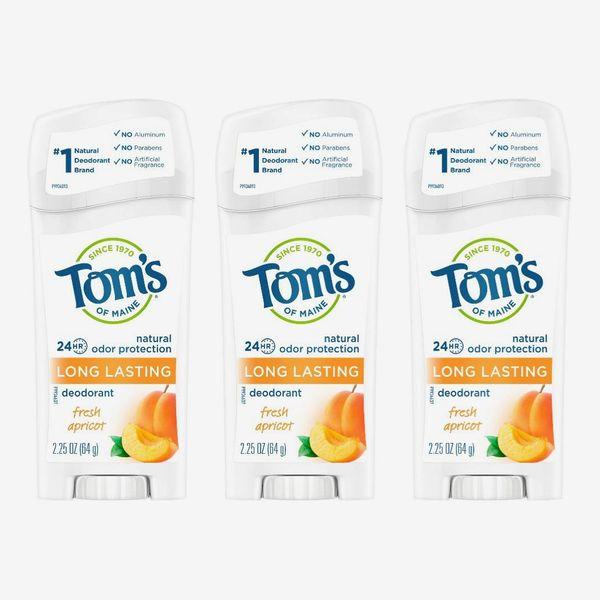 Tom's of Maine Long-Lasting Natural Aluminum-Free Deodorant, Fresh Apricot (3-Pack)