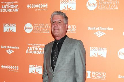 TV personality Anthony Bourdain attends On The Chopping Block: A Roast of Anthony Bourdain at Pier Sixty at Chelsea Piers on October 11, 2012 in New York City.