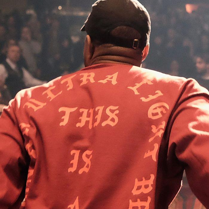 Forever 21's shirt and Kanye's design (on Kanye.)