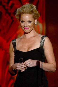 Actress Katherine Heigl speaks onstage at the 40th AFI Life Achievement Award honoring Shirley MacLaine held at Sony Pictures Studios on June 7, 2012.