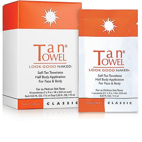 Tan Towel Self-Tan Towelette Half Body Application for Face & Body