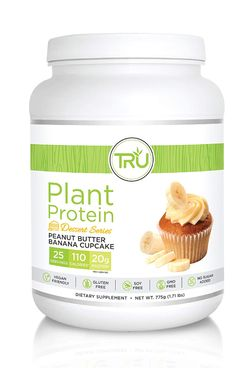 TRU Peanut Butter Banana Cupcake Protein Powder, 1.7 lb