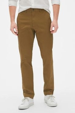 Gap Modern Khakis in Straight Fit with GapFlex, Palomino Brown