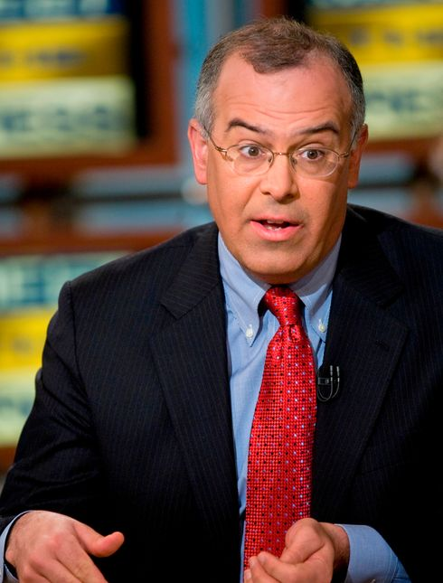 WASHINGTON - MARCH 30:  (AFP OUT) David Brooks of the New York Times speaks during a live taping of Meet the Press March 30, 2008 in Washington, DC.  Guests Gene