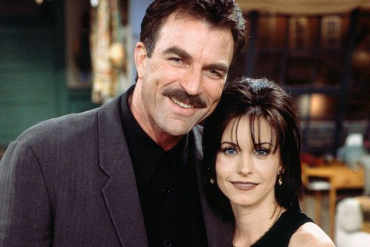 "FRIENDS -- ""The One Where Ross and Rachel...You Know"" Episode 15 -- Pictured:  (l-r) Tom Selleck as Dr. Richard Burke, Courteney Cox Arquette as Monica Geller -- Photo by: Paul Drinkwater/NBCU Photo Bank"