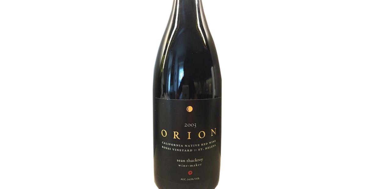 Sean Thackrey Orion Rossi Vineyard 2003