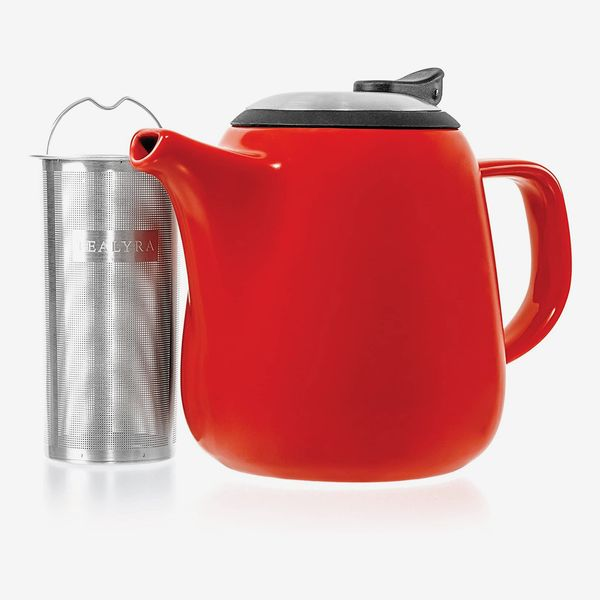 Tealyra 2-3 Person Ceramic Teapot in Red
