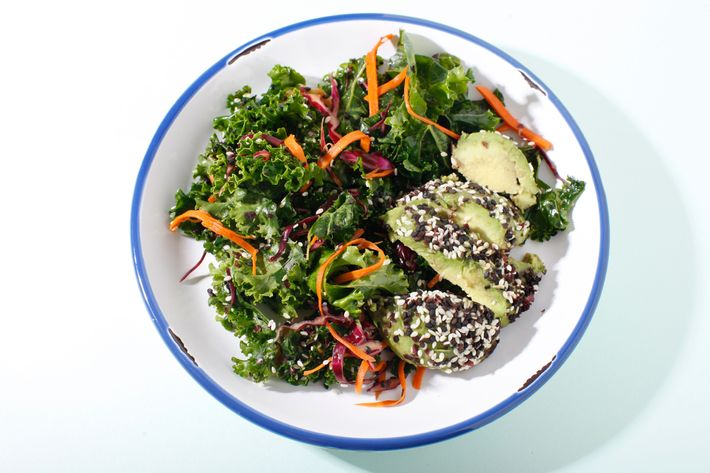 The Middle Eastern kale salad.