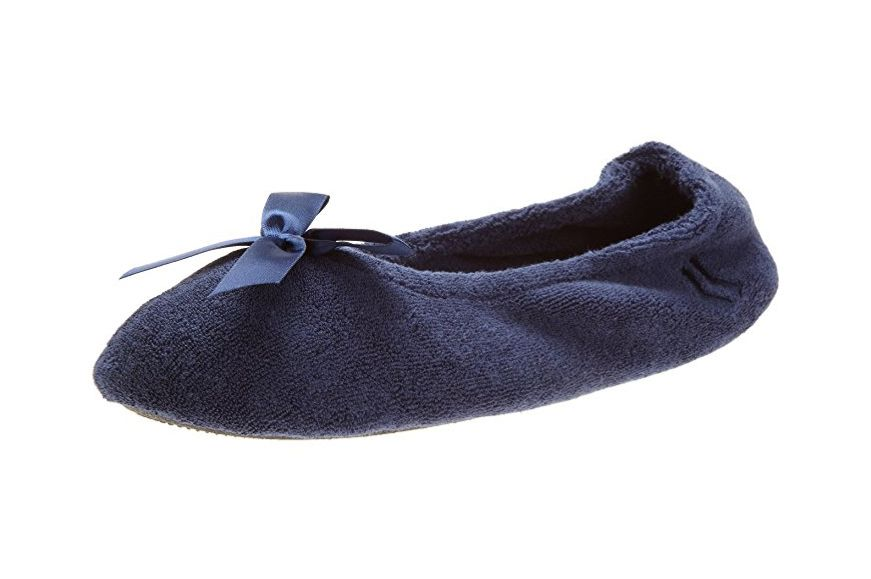Isotoner Women's Terry Ballerina Slipper