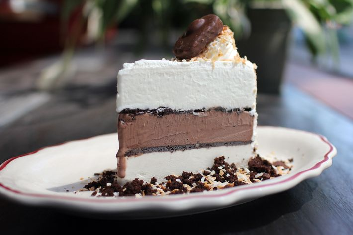 In addition to the candy, the Almond Joy includes coconut, chocolate, and toasted-almond layers.