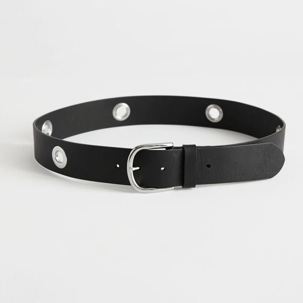 & Other Stories Eyelet Studded Leather Belt