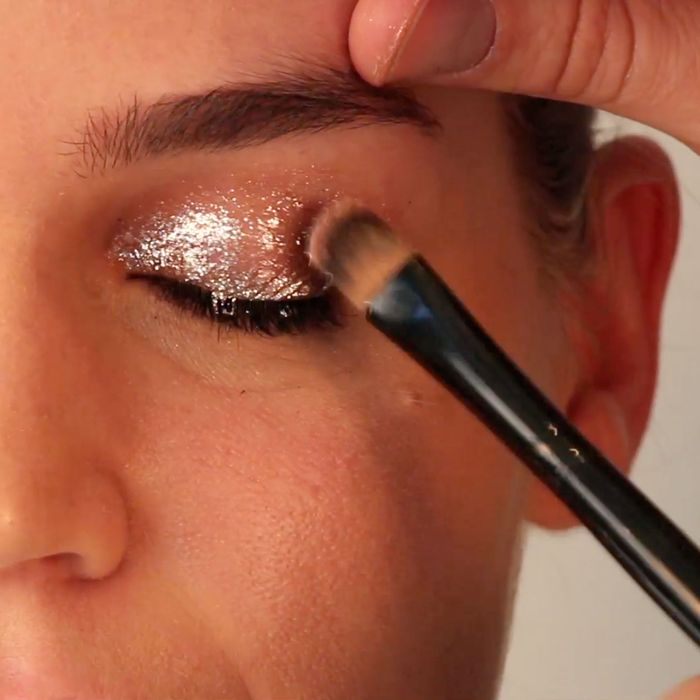 7fc3f3e850b Glitter hasn't always had the most refined reputation. But around the  holidays, the glitter eyeshadow, least-used in your eyeshadow palette,  begins to look ...