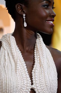 Lupita Nyong'o at the 2015 Oscars.