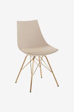 OSP Home Furnishings Oakley Mid-Century Modern Bucket Chair, Cream