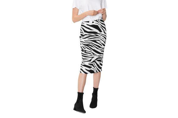 Zebra Pencil Skirt