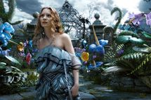 "Mia Wasikowska as Alice in ""Alice In Wonderland."""