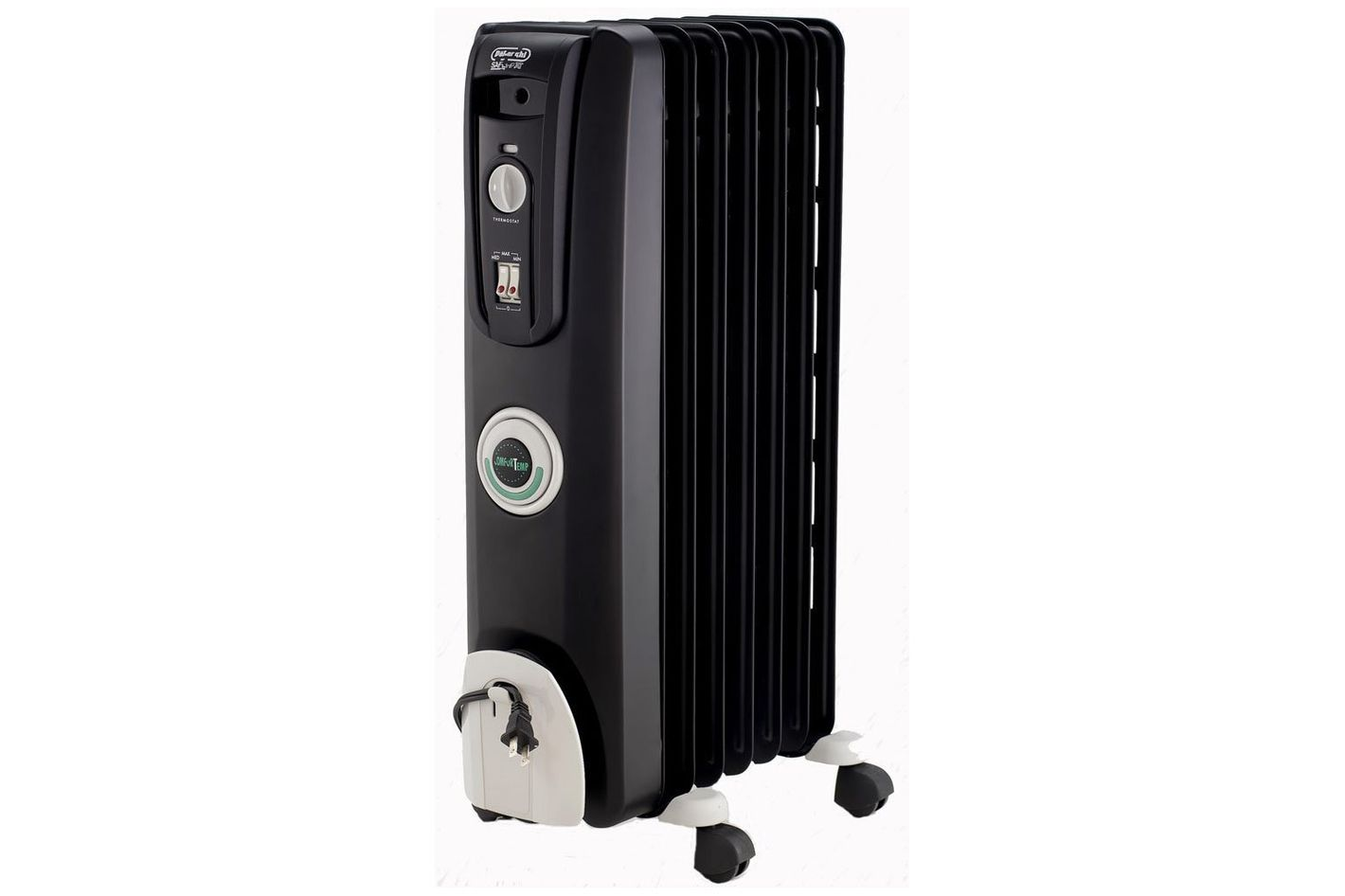 DeLonghi EW7707CB Safe Heat 1500W ComforTemp Portable Oil-Filled Radiator — Black