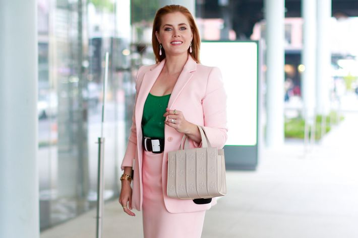 Amy Adams carrying the Whitney bag from MaxMara.