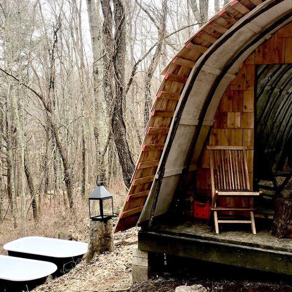Scandanavian Wigwam with Sauna and Forest Baths