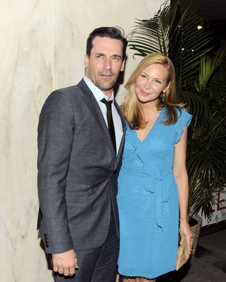 Jon Hamm, Jennifer Westfeldt==The Cinema Society with The Hollywood Reporter & Piaget host an after party for