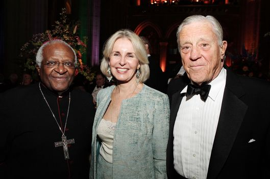 Sally Quinn and Ben Bradlee at the Washington National Cathedral Centennial Gala on November 9, 2007 in Washington, DC.