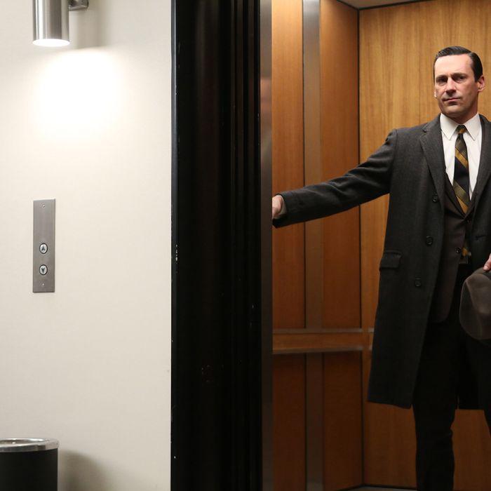 Don Draper (Jon Hamm) - Mad Men _ Season 6, Episode 13 _ 'In Care of' - Photo Credit: Jamie Trueblood/AMC