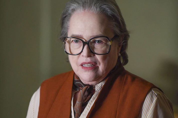 "AMERICAN HORROR STORY -- ""Battle Royale"" Episode 511 (Airs Wednesday, January 6, 10:00 pm/ep) Pictured:  Kathy Bates as Iris.  CR: Ray Mickshaw/FX"