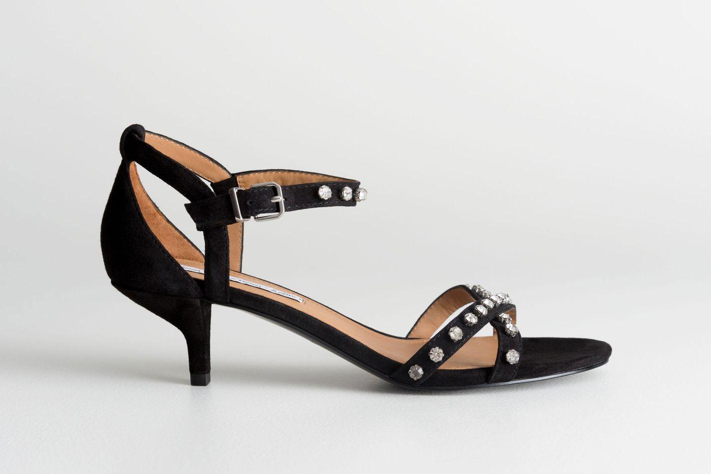 Rhinstone Studded Kitten Heels