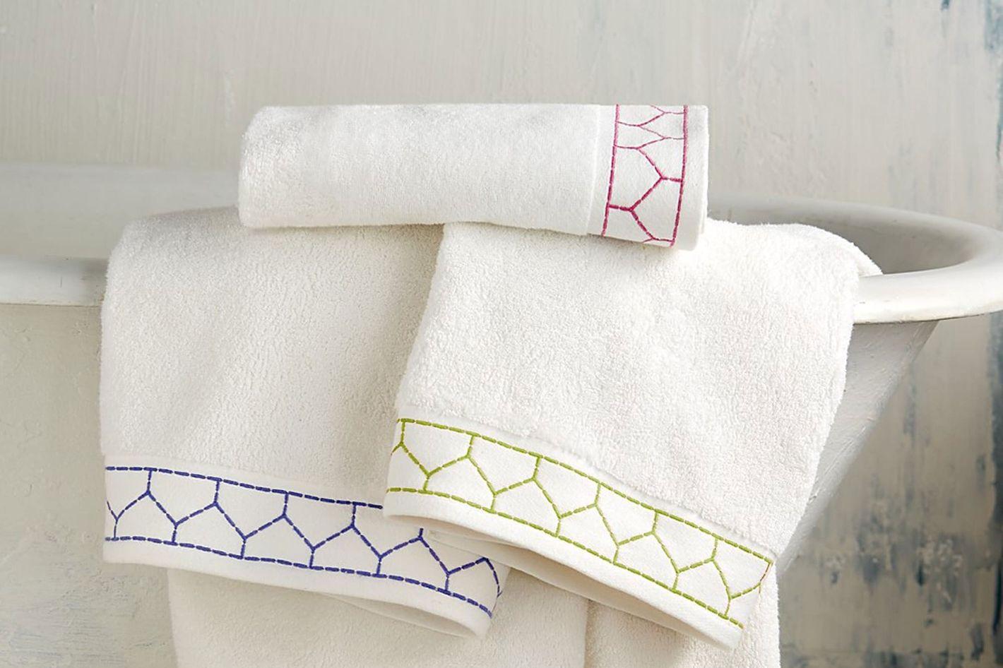 JR by John Robshaw Linah Embroidered Wash Cloth