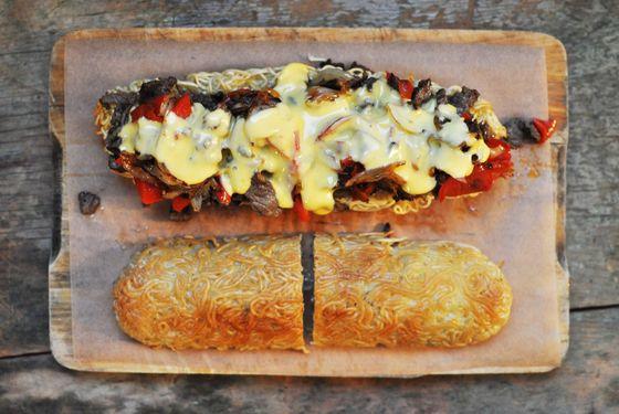 philly-cheese-steak-sandwich-overhead