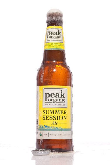 "Peak Organic Brewing Company (Maine)<br>$2.49 for 12 oz. <br><strong>Type:</strong> American Pale Wheat Ale<br><strong>Tasting notes:</strong> ""Notes of honey, wheat, and citrus, along with earthy tones. It's light, with lots of flavor."" <br>—Renee Esposito, co-owner, Breukkelen Bier Merchants<br><br>"