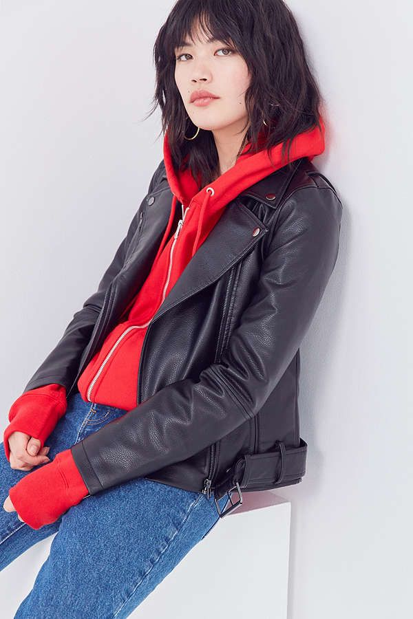 BDG Faux Leather Moto Jacket