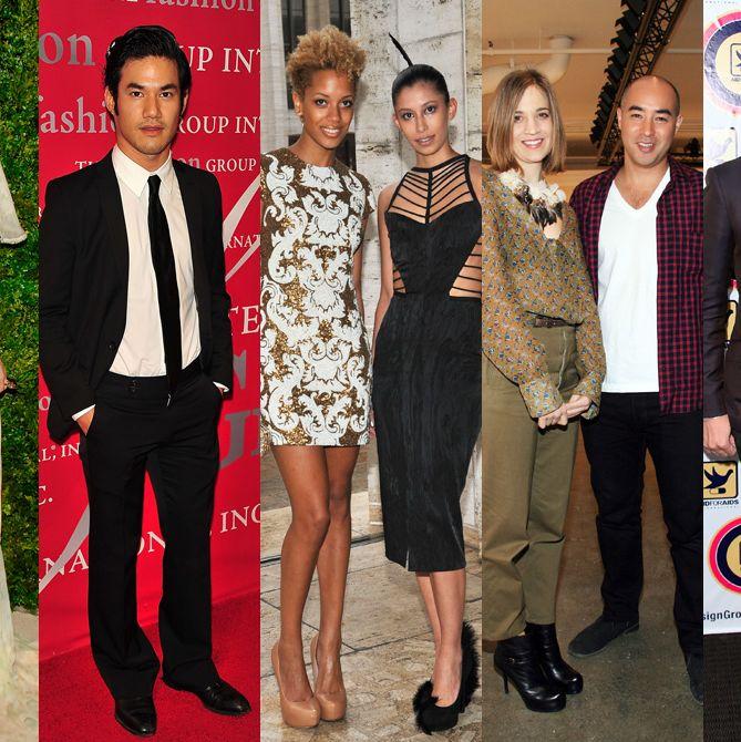From left: Pamela Love, Joseph Altuzarra, Cushnie et Ochs, Suno, Carlos Campos.