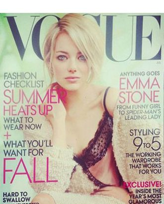Emma Stone's new <em>Vogue</em> cover.